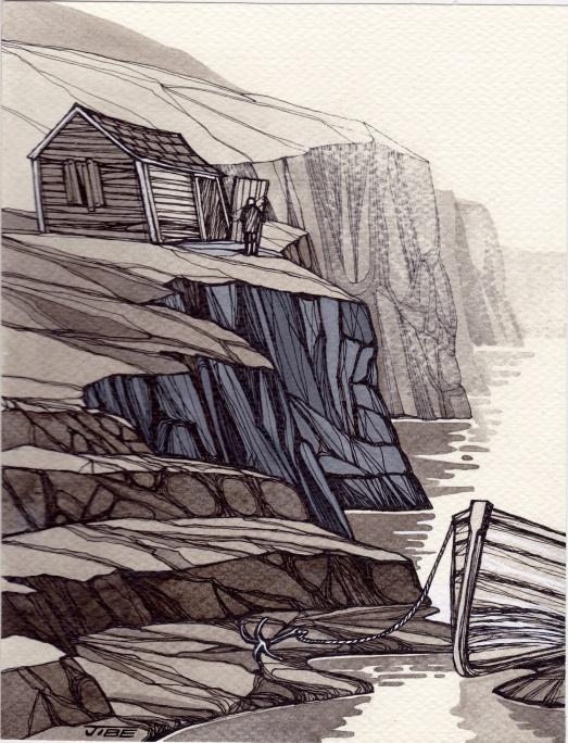 cabane et barque