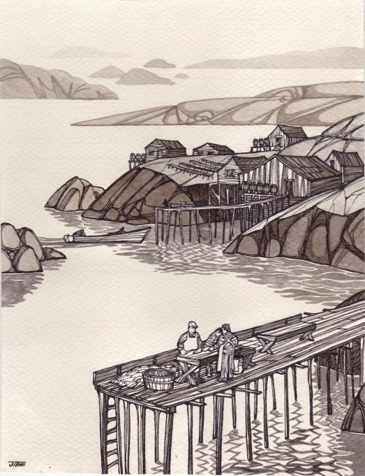 pêcheurs quai