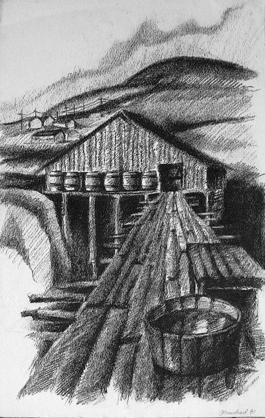 quai barils huile